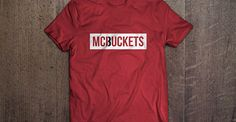 "Red ""McBuckets"" shirt for #3 Doug McDermott of the NBA Chicago Bulls. Dougie McBuckets! (tshirt design by DimesAlign)"