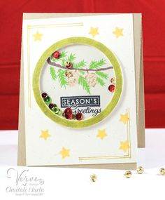 Christmas with Verve Christmas Scrapbook Layouts, The Verve, Shaker Cards, Winter Cards, Winter Day, Card Ideas, Christmas Cards, Folk, Stamps