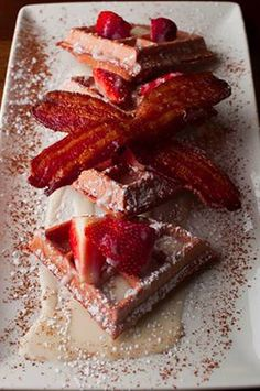 Red Velvet Waffles from Del Frisco's Grille