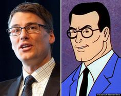 Vancouver Mayor Gregor Robertson and look alike Clark Kent Prime Time, Clark Kent, Look Alike, Politicians, Vancouver, Celebrities, People, Fictional Characters, Celebs