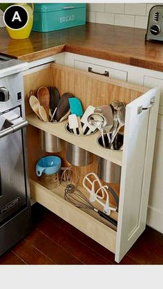 New DIY kitchen drawers - Kitchen Decor Tidy Kitchen, Diy Kitchen Storage, New Kitchen Cabinets, Kitchen Drawers, Kitchen Tops, Kitchen Redo, Kitchen Organization, Kitchen Utensils, Design Kitchen