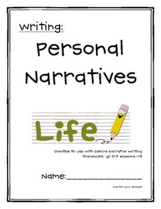 Student Packet to go with Personal Narrative Mini Lessons 1-8 from Lucy Calkins