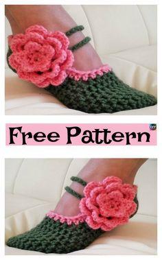 Crochet Women Slippers – Free Pattern & Video #freecrochetpattern #slippers