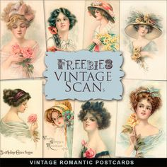 Far Far Hill: Freebies Kit of Vintage Postcards