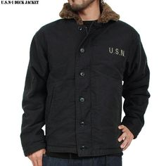 Rakuten: Brand new & U.S. n-1 deck jacket USED machined black zipper TALON's color and texture are out realistic texture- Shopping Japan...