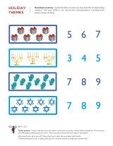 Extra counting practice with this Hanukkah-themed math worksheet.
