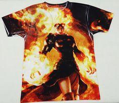 Magic The Gathering MTG Custom Chandra Nalaar Planeswalker T Shirt ...