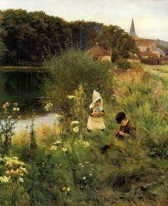 William Gunning King (1859-1940) . Saturday Afternoon