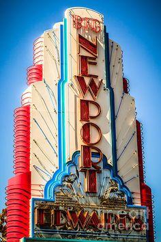Edwards Big Newport Theatre Sign | Newport Beach | California | Photo By Paul Velgos