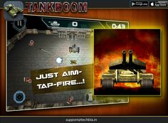 Multi-touch and easy joystick navigational control schemes! #appstore #bestgame #tankboom #ios #universal https://itunes.apple.com/app/id886100540