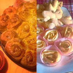 Torta di rose, biscotti e rose di mela
