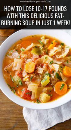 How To Lose Pounds With This Delicious Fat-Burning Soup In Just 1 Week! The post How To Lose Pounds With This Delicious Fat-Burning Soup In Just 1 Week! appeared first on Diet. Diet Recipes, Cooking Recipes, Healthy Recipes, Weightloss Soup Recipes, Smoothie Recipes, Cooking With Turmeric, Weight Loss Soup, Clean Eating, Healthy Eating