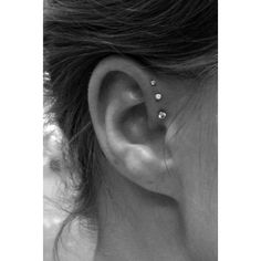 ferver Ear piercings (piercings,cool) We Heart It found on Polyvore