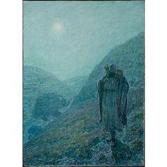 """The Good Shepherd, Henry Ossawa Tanner, 1922, oil on canvas, 32 x 23 5/8"", Newark Museum."
