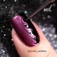 Pretty Nail Art, Cute Nail Art, Cute Acrylic Nails, Nail Art Diy, Diy Gel Nails, Art Nails, Nagellack Design, Nagellack Trends, Nail Art Designs Videos