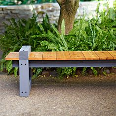 Enjoy the view from this DIY garden bench. Clean lines and a low profile allow for an unobstructed view of your landscape. Skill level: Beginner