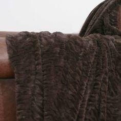 Amelia Faux Fur Throw - Luxurious faux fur with a chic zebra design.