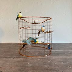 Bring a smile to your face and cool retro vibes to your home! This beautiful . Light Shades, Shades Of Blue, Cage Light, Bird Cage, Copper Wire, Flocking, Hand Tools, Hanging Chair, Home Gifts