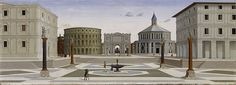 """Why was this considered: """"The Ideal City"""" of the Renaissance by Fra Carnevale. Oil and tempera painting (c1480). Panel in the Walters Art Museum"""