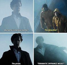 Sherlock the pirate Sherlock Holmes Funny, Molly Hooper Sherlock, Sherlock Series, Sherlock Holmes Benedict Cumberbatch, Sherlock Fandom, Watson Sherlock, Sherlock Quotes, Sherlock John, Jim Moriarty
