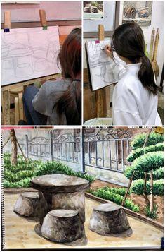 <2월달 초등 수채화반 미술수업 모습>안녕하세요 한여울미술학원입니다. 2월달에도 열심히 그림 그리...
