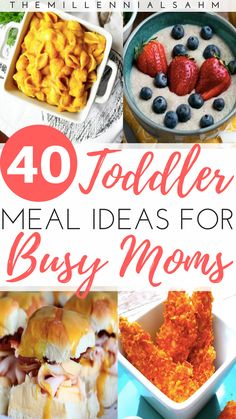 Toddler meals 411797959681928606 - As a busy mom, mealtime can be stressful – especially if you have toddlers. Thankfully it doesn't have to be! Here are over 40 toddler meal ideas for busy moms that toddlers will love! Source by bychelsstudio Toddler Friendly Meals, Picky Toddler Meals, Kid Friendly Dinner, Toddler Snacks, Kids Meals, Toddler Dinners, Snacks For Toddlers, Healthy Toddler Lunches, Kid Lunches