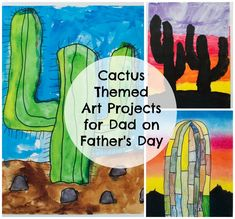 Cactus Themed Art Projects for Dad on Father's Day //-Momista Beginnings