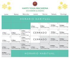 Horario de vacaciones 2015-2016 Happy Yoga, Macarena