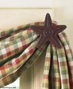 -- Sensational bargains just a click away: Park Designs Cast Star Curtain Hooks, Red, Includes 2 in Set at Christmas Home Decor .