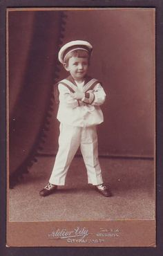 2)) LITTLE BOY SAILOR ca 1900 FINLAND HELSINKI  IMPERIAL RUSSIA CABINET PORTRAIT