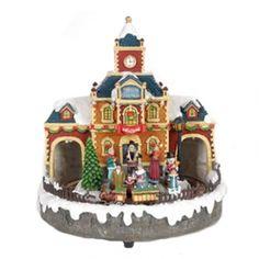 Χριστουγεννιάτικο σπιτάκι φωτιζόμενο 14155