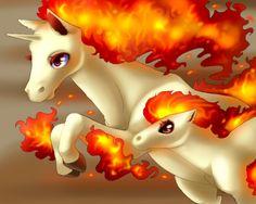 Ponyta and Rapidash.. away! x3 lol cute love it :3