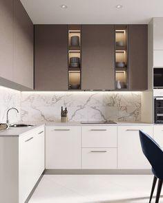 27 Modern Kitchen Interior Design That You Have to Try Kitchen Room Design, Luxury Kitchen Design, Home Decor Kitchen, Interior Design Kitchen, New Kitchen, Home Kitchens, Modern Kitchen Furniture, Modern Kitchen Interiors, Kitchen Modern