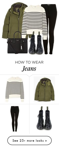 """""""Sin título #14236"""" by vany-alvarado on Polyvore featuring Madewell, Topshop and Yves Saint Laurent"""