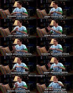 The Big Bang Theory- Rock, Paper, Scissor, Lizard, Spock!
