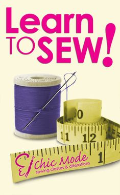 learn to sew!