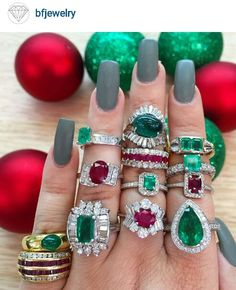 Emerald and Ruby's. .Diamond's