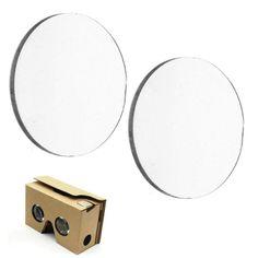 20Pcs 25MM Biconvex F45MM VR 3D Glasses Lens Virtual Reality 3D Effect PMMA Optical Lens #Affiliate