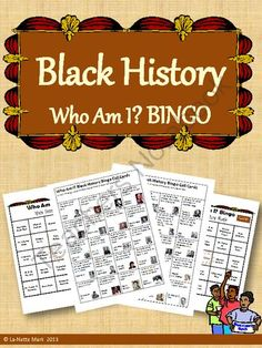 Black History Who Am I? Bingo from La-NetteMark on TeachersNotebook.com -  (39 pages)  - Bingo game for Black History Month