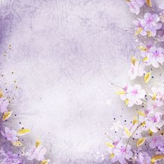Purple Stationery With Flower Background