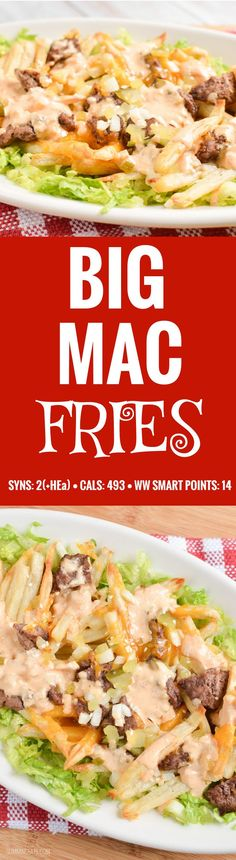 Slimming Eats Big Mac Fries - gluten free, Slimming World and Weight Watchers friendly astuce recette minceur girl world world recipes world snacks Slimming World Tips, Slimming World Dinners, Slimming World Recipes Syn Free, Slimming Eats, Slimming Word, Fake Away Slimming World, Slimming World Lunch Ideas, Yummy Recipes, Diet Recipes