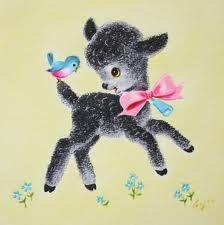 Black Vintage Lamb