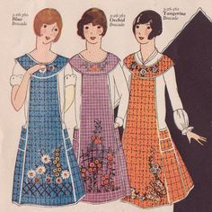 New Pellon® Easy Pattern 1926 Vintage Retro Flapper Style Slip On Apron Pattern Vintage Apron Pattern, Aprons Vintage, Vintage Sewing Patterns, Apron Patterns, Smocking Patterns, Retro Apron, Sewing Aprons, Sewing Clothes, Fabric Sewing