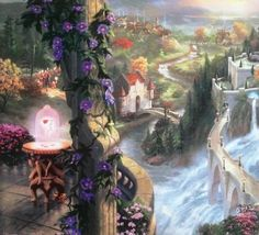 Lot: Kinkade Lithograph Disney - Beauty