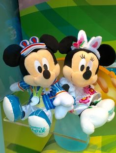 2016 Tokyo Disneyland Disney Easter Mickey Minnie plush toys set Japan New #Disney