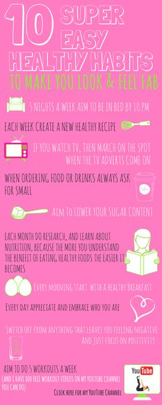 Small Changes can easily lead to BIG RESULTS, and here are 10 easy healthy habit. Small Changes can easily lead to BIG RESULTS, and here are 10 easy healthy habits which will make you feel fitter, s Home Workout Videos, At Home Workouts, Get Healthy, Healthy Tips, Beauty Habits, Healthy Lifestyle Changes, Healthy People 2020 Goals, Small Changes, Easy Workouts