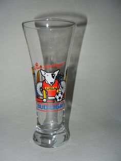 Spuds MacKenzie Beer Glass 1988 AnheuserBusch Bud by RetroPickins, $8.95