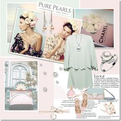 Purepearls.com by mashajazzliving on Polyvore featuring Valentino, Oscar de la Renta, Shabby Chic and purepearls @purepearls