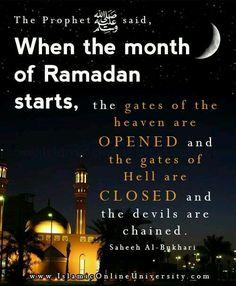 Start of Ramadan