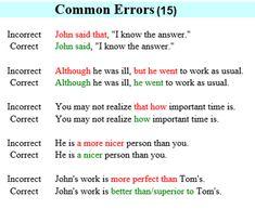 Common Errors in English Usage – ESL Buzz